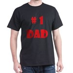 #1Dad (Red) Dark T-Shirt