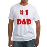 #1Dad (Red) Fitted T-Shirt