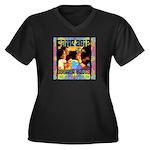 Boomer Babes 2012 Women's Plus Size V-Neck Dark T-