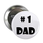 "#1Dad (Blck) 2.25"" Button"