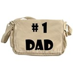 #1Dad (Blck) Messenger Bag