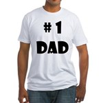 #1Dad (Blck) Fitted T-Shirt
