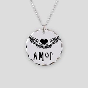 amor Necklace Circle Charm