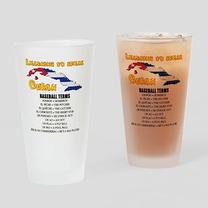 BASEBALL TERMS copy Drinking Glass