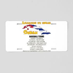 BASEBALL TERMS copy Aluminum License Plate