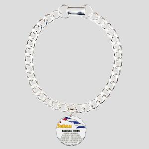 BASEBALL TERMS copy Charm Bracelet, One Charm