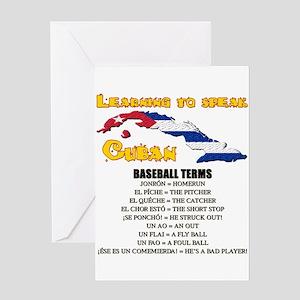 BASEBALL TERMS copy Greeting Card