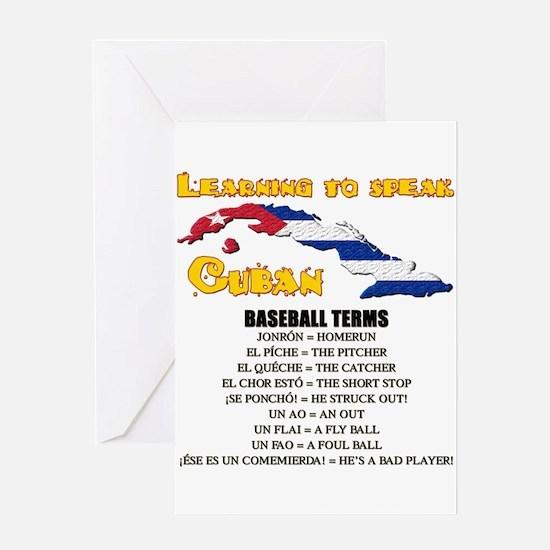 BASEBALL TERMS copy.png Greeting Card