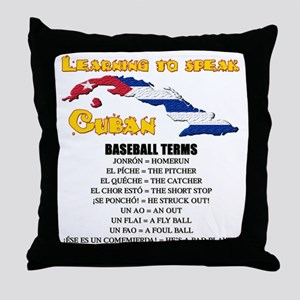 BASEBALL TERMS copy Throw Pillow