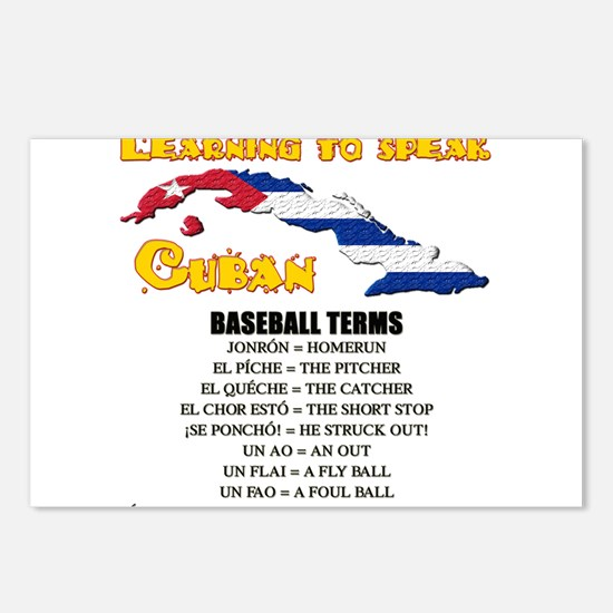 BASEBALL TERMS copy.png Postcards (Package of 8)