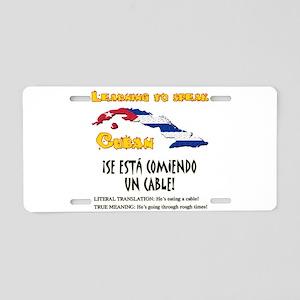 SE ESTA COMIENDO UN CABLE copy Aluminum Licens