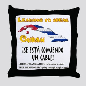 SE ESTA COMIENDO UN CABLE copy Throw Pillow