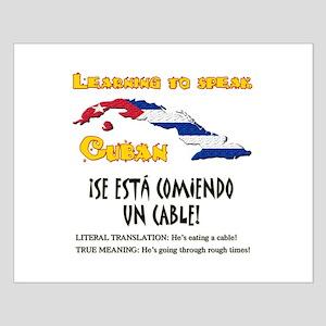 SE ESTA COMIENDO UN CABLE copy Small Poster