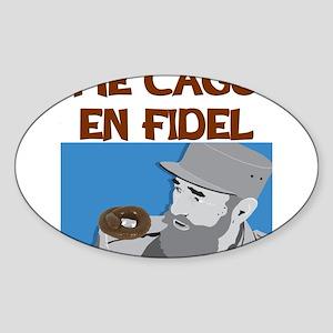 ME CAGO EN FIDEL Sticker (Oval)