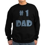 #1 Dad (Bl) Sweatshirt (dark)