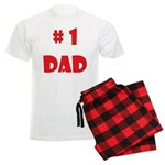 #1Dad (Red) Men's Light Pajamas
