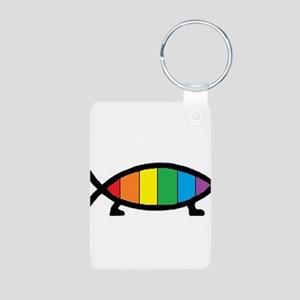 Gaytheist Aluminum Photo Keychain