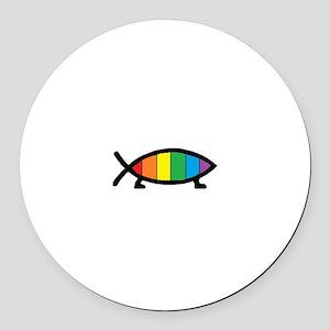 Gaytheist Round Car Magnet