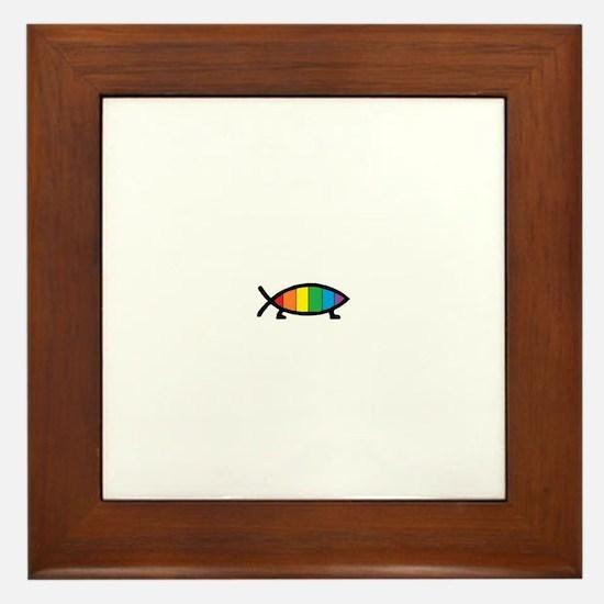 Gaytheist Framed Tile