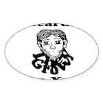 Beards Grow On You Sticker (Oval 10 pk)