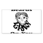Beards Grow On You Sticker (Rectangle)