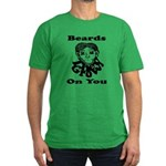 Beards Grow On You Men's Fitted T-Shirt (dark)