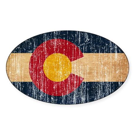 Colorado Flag Sticker (Oval)