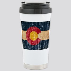Colorado Flag Stainless Steel Travel Mug