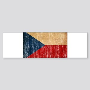 Czech Republic Flag Sticker (Bumper)