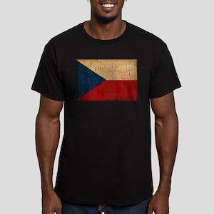 Czech Republic Flag Men's Fitted T-Shirt (dark)