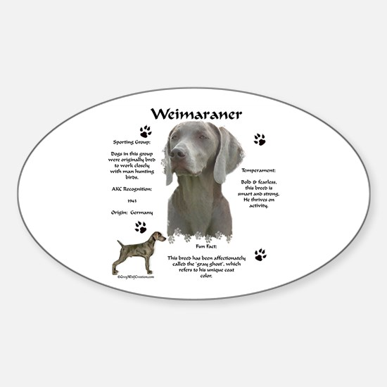 Weim 3 Oval Decal