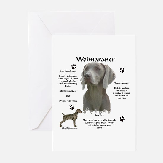 Weim 3 Greeting Cards (Pk of 10)