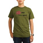 Kiss Me Im a Geek.png Organic Men's T-Shirt (dark)