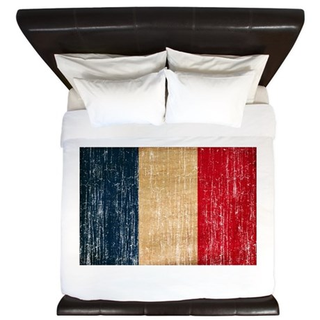 France Flag King Duvet
