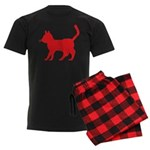 Cat Icon (R) Men's Dark Pajamas
