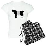 Cow Icon (XL) Women's Light Pajamas