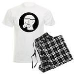 GasMaskWithEyeShieldV_2 Men's Light Pajamas