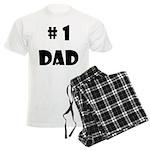 #1Dad (Blck) Men's Light Pajamas