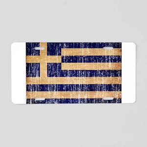 Greece Flag Aluminum License Plate
