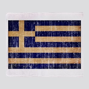 Greece Flag Throw Blanket