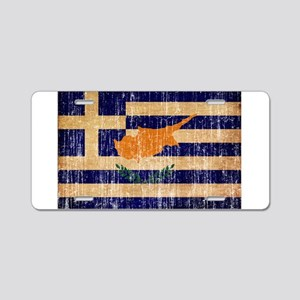Greek Cyprus Flag Aluminum License Plate