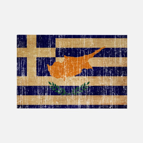 Greek Cyprus Flag Rectangle Magnet
