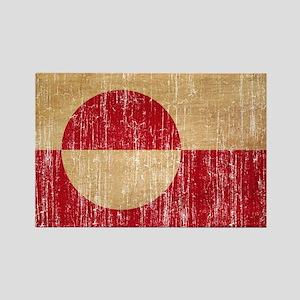 Greenland Flag Rectangle Magnet