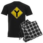 Y Intersection Sign Men's Dark Pajamas