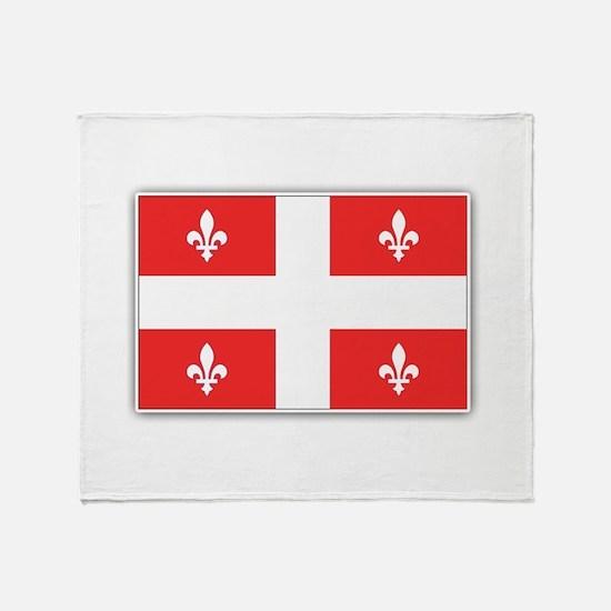Drapeau Quebec Rouge Throw Blanket
