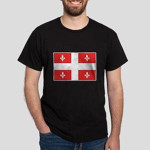 Drapeau Quebec Rouge Dark T-Shirt