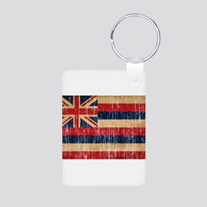 Hawaii Flag Aluminum Photo Keychain