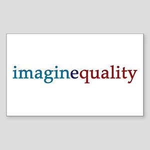 imaginequality - Sticker (Rectangle)