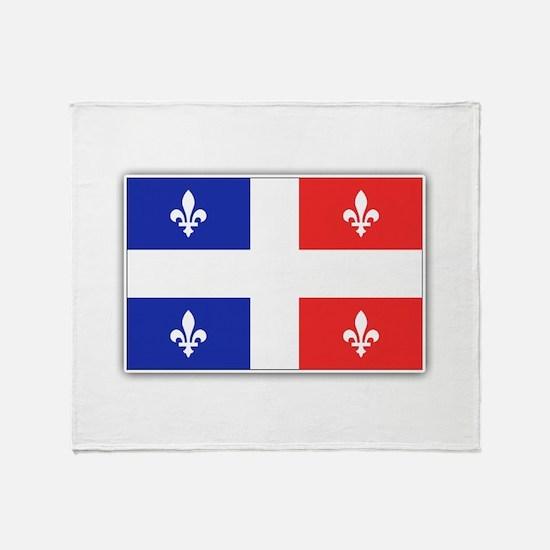 Drapeau Quebec Bleu Rouge Throw Blanket