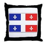 Drapeau Quebec Bleu Rouge Throw Pillow
